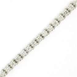 18kt White Gold 3.48 ctw Diamond Line Tennis Bracelet