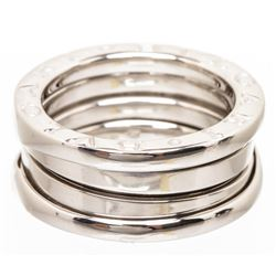 Bvlgari 18K White Gold B.zero1 Double Ring 48