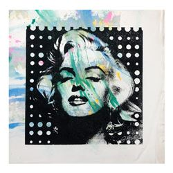 "Gail Rodgers, ""Marilyn Monroe"" Hand Signed Original Hand Pulled Silkscreen Mixed"