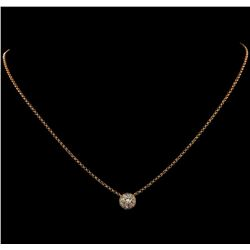 0.88 ctw Diamond Necklace - 18KT Rose Gold