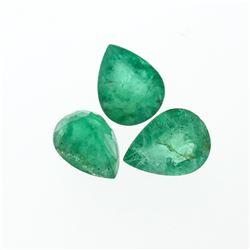 4.48 cts. Pear Cut Natural Emerald Parcel