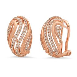 14k Gold 0.56CTW Diamond Earrings, (SI)