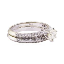 1.38 ctw Diamond Ring & Wedding Band - 14KT White Gold
