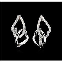0.73 ctw Diamond Earrings - 14KT White Gold