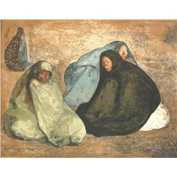 Group de Mujeres Sentadas I (Group of Seated Women I) by Francisco Zuniga 32/92