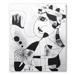 "Jenik Cook, ""Morvat"" Original Acrylic Painting on Canvas (52"" x 63""), Hand Singe"