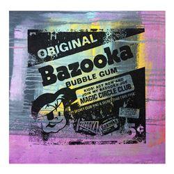 "Gail Rodgers, ""Bazooka Joe"" Hand Signed Original Hand Pulled Silkscreen Mixed Me"