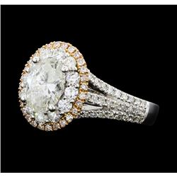 1.54 ctw Diamond Ring - 18KT White And Yellow Gold