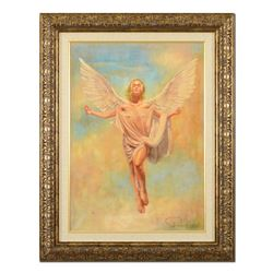 "Tomasz Rut, ""In Descendo"" Framed Hand Embellished Limited Edition on Canvas (32."