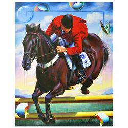 """Ferjo, """"Live to Ride"""" Original Painting on Canvas, Hand Signed with Letter of Au"""