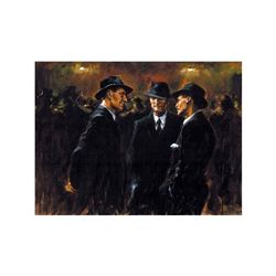 """Fabian Perez, """"Gathering/Las Brujas"""" Hand Textured Limited Edition Giclee on Boa"""