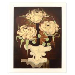 "Brenda Barnum, ""Press Roses"" Limited Edition Serigraph, Numbered and Hand Signed"