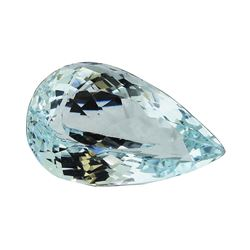 5.24 ct.Natural Pear Cut Aquamarine