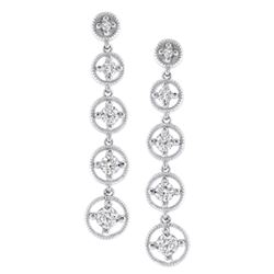14k White Gold 0.50 ctw Diamond Earrings, (SI3/G-H)