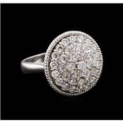 2.09 ctw Diamond Ring - 14KT White Gold