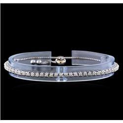 1.00 ctw Diamond Bracelet - 14KT White Gold