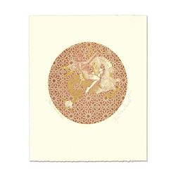 "Guillaume Azoulay, ""Capricorn"" Limited Edition Etching with Gold Leafing, Hand S"