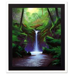 "Jon Rattenbury, ""Woodland Cascade"" Limited Edition Giclee on Canvas, Numbered an"