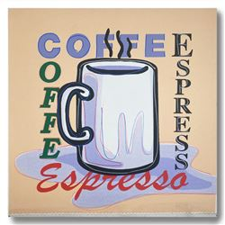 """Steve Kaufman (1960-2010), """"ESPRESSO"""" Hand Signed and Numbered Limited Edition H"""