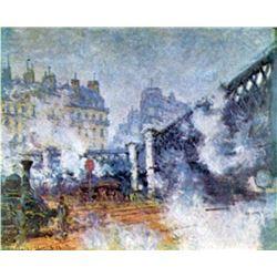 Claude Monet - The Europe Bridge Saint Lazare Station in Paris