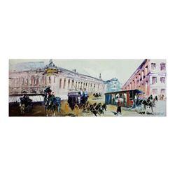 "Shalva Phachoshvili, ""Street View"" Hand Signed Original Oil on Canvas; COA"