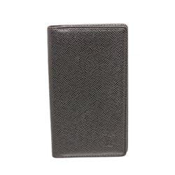 Louis Vuitton Black Taiga Leather Checkbook Cover Wallet