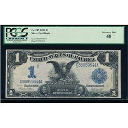 1899 $1 Black Eagle Silver Certificate PCGS 40