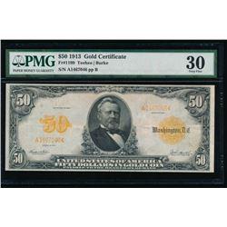 1913 $50 Gold Certificate PMG 30