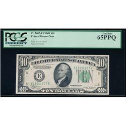 1934B $10 Richmond Federal Reserve Note PCGS 65PPQ