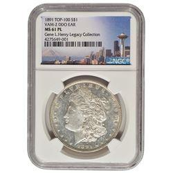 1891 $1 Morgan Silver Dollar Coin NGC MS61PL