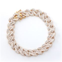 Plated 18KT Yellow Gold 0.75ctw Diamond Bracelet