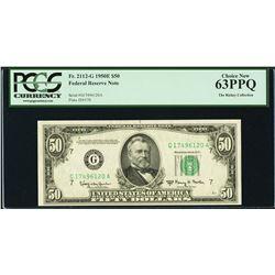 1950E $50 Chicago Federal Reserve Note PCGS 63PPQ