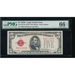 1928F $5 Legal Tender Note PMG 66EPQ