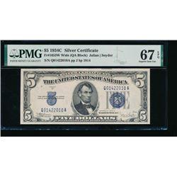 1934C $5 Silver Certificate PMG 67EPQ