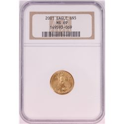 2001 $5 American Gold Eagle Coin NGC MS69