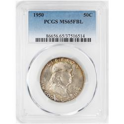 1950 Franklin Half Dollar Coin PCGS MS65FBL