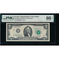 1976 $2 Dallas Federal Reserve STAR Note PMG 66EPQ