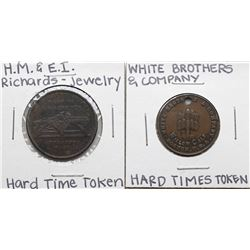 Lot of (2) Hard Times Tokens