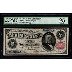 1891 $5 Silver Certificate PMG 25
