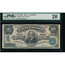 1908 $10 Silver Certificate PMG 20