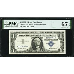 1957 $1 Silver Certificate STAR Note PMG 67EPQ