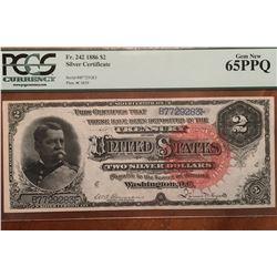 1886 $2 Silver Certificate PCGS 65PPQ