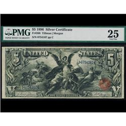 1896 $5 Educational Silver Certificate PMG 25