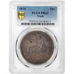1879 $1 Proof Trade Silver Dollar Coin PCGS PR63