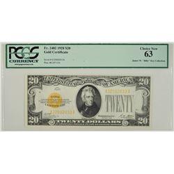 1928 $20 Gold Certificate PCGS 63