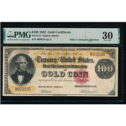 1882 $100 Gold Certificate PMG 30