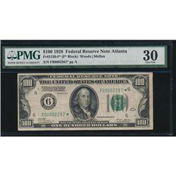 1928 $100 Atlanta Federal Reserve STAR Note PMG 30