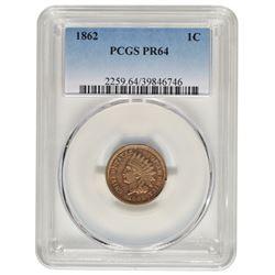 1862 Indian Cent Coin PCGS PR64