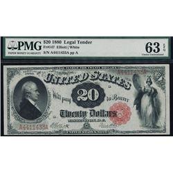 1880 $20 Legal Tender Note PMG 63EPQ