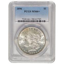 1896 $1 Morgan Silver Dollar Coin PCGS MS66+